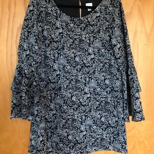 Printed Long Sleeve Shift Dress   A New Day